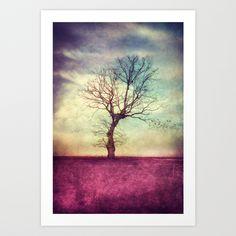 ATMOSPHERIC TREE, Art Print © VIAINA | http://society6.com/myina/ATMOSPHERIC-TREE-Ql2_Print