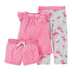 jcp   Carter's® 3-pc. Flamingo Pajama Set – Toddler Girls 2t-5t