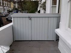 Bay Window Bike Sheds Bin Shed, Bicycle Storage, Timber Wood, Shed Plans, New Builds, House Front, Bay Window, Building Design, Sheds