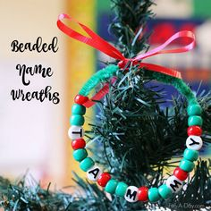 A simple and engaging wreath craft kids can make for their family and friends (or themselves). Works on name recognition, along with many other skills. Kids Christmas Ornaments, Christmas Math, Preschool Christmas, Christmas Activities, Christmas Crafts For Kids, Holiday Crafts, Christmas Gifts, Christmas Decorations, Winter Activities