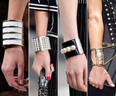 Spring/ Summer 2015 Jewelry Trends: Metallic Bracelets  #accessories #jewelry #jewelrytrends