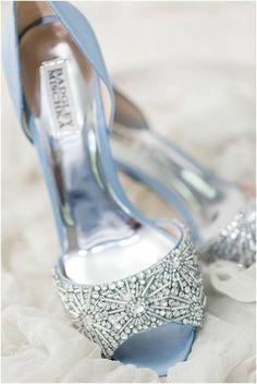 White Bridal Shoes, Blue Wedding Shoes, Blue Bridal, Dress Wedding, Periwinkle Wedding, Dusty Blue Bridesmaid Dresses, Dusty Blue Weddings, Bridesmaid Shoes, Bridesmaid Ideas