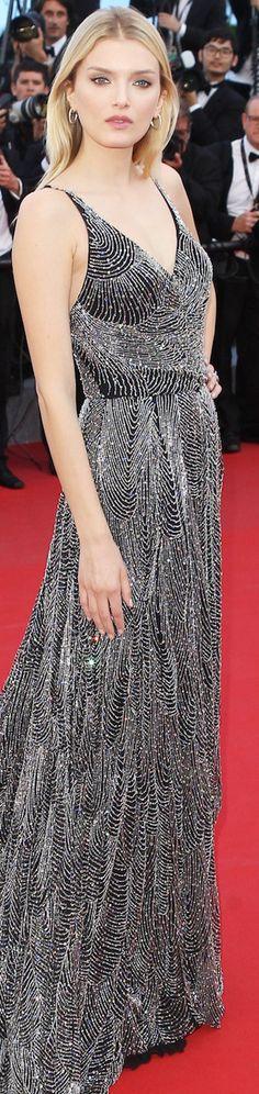 Lily Donaldson wearing Saint Laurent at the 2015 Cannes Film Festival