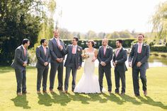 Best men in grey suits with salmon pink ties | Behind the Lens with Bristol Photography, Albert Palmer | Wedding Photography | Newlywed Images | For more visit www.weddingsite.co.uk