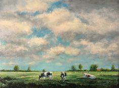 Herman Dasselaar , koeien in de zomer.