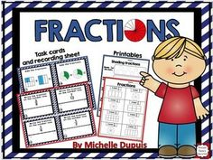 Fractions - Fraction Task Cards and Worksheets are so much fun - 40 task card and fun worksheets. Fractions can be a difficult math concept to master for many students. This fraction packet contains task cards and worksheets that can help your students build confidence.