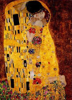 Μπελ Επόκ:  Το φιλί, έργο του Γκούσταβ Κλιμτ