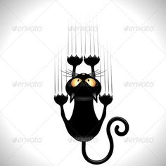 ஜ SOLD on #GraphicRiver! ஜ #Funny #Black_Cat #Cartoon #Scratching #Wall - #Vector http://graphicriver.net/item/black-cat-cartoon-scratching-wall/5068998