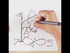 Artist Draw Ganpati Using Numbers 0 – 9! - YouTube