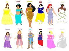 Plus Size Princesses by ColdHeartedCupid on DeviantArt Fat Disney Princesses, Disney Characters, Plus Size Disney, Princesas Disney, Big And Beautiful, The Little Mermaid, Trending Memes, Aurora Sleeping Beauty, Catcher