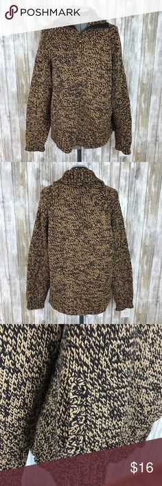 Old Navy brown taupe half zip sweater size XXL Old Navy brown and taupe half zip turtleneck sweater with pockets on front. Size XXL. Ptp 22, length 25. Super thick and cozy Old Navy brown half zip sweater. Old Navy Sweaters Cowl & Turtlenecks