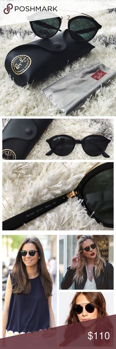 Ray-Ban Gatsby II Like new Ray-Ban Gatsby II in black. In PERFECT condition. Reposhing these because I don't think round lenses look good on me 😥 Ray-Ban Accessories Sunglasses