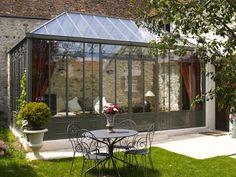 Resultado de imagen para brick stoop with glass conservatory Pergola, Gazebo, Outdoor Spaces, Outdoor Living, Glass Conservatory, Casa Patio, Glass Room, House Extensions, Renovation