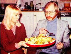 Agnetha (with someone that I don't know who you are) in Polar,in 1978.