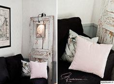 En mjukt rosa nyans smög sig upp i soffan Ladder Decor, Oversized Mirror, Ikea, Living Room, Furniture, Home Decor, Room Decor, Living Rooms, Drawing Rooms