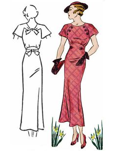 Decades of Style 1930 Button Dress