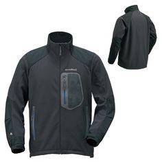 mont-bell / ロッシュジャケット クリマプロ™200[表側:ポリエステル+ポリウレタン〈耐久撥水加工〉 裏側:ポリエステル] (肩当て・ひじ当て・袖口)スーパーハイドロブリーズ®3レイヤー[40デニール・アンチグリース・ナイロン・リップストップ]