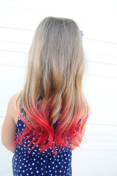 How to dye your hair using kool-aid! how to dye your hair with kool aid 7 Hair Dye For Kids, Kids Hair Color, Safe Hair Dye, Dye My Hair, Dip Dye Hair, Dip Dyed, Pink Hair Streaks, Short Hairstyles, Dyed Hair