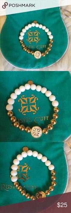 Rustic Cuff | White + Gold BeautifulEuc Rustic Cuff Jewelry Bracelets