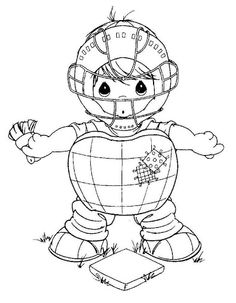 catcher baseball coloring pages