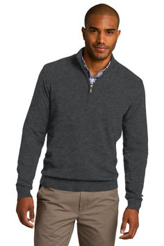 1/2-Zip Sweater - With rib knit details, this fine-gauge layerable sweater is just right for a day in the office or night out.