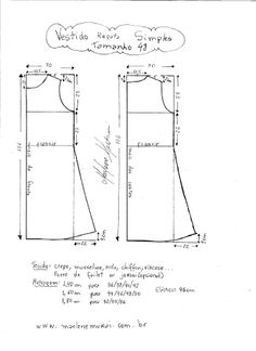 Résultats de recherche d'images pour « molde de vestidos simples »