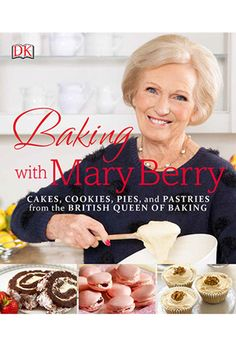 """Baking with Mary Berry, a sweet and savory  collection of over 100 foolproof recipes, includes images,  tips, and step-by-step instructions from the reigning """"Queen  of Baking."""" The practical, no-fuss Mary has more than 60  years of experience in  the kitchen, and has made her way into American homes  and hearts through ABC's The Great Holiday  Baking  Show, and PBS' The Great British  Baking Show.  Whether you're tempted by Mary's Heavenly Chocolate Cake,  intr..."""