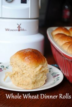Cooke's Frontier: 100% Whole Wheat Dinner Rolls~ Just made these. Super moist and fluffy. (I used molasses instead of honey)