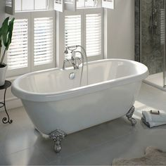 The Bath Co. Dulwich traditional bathroom suite and roll top bath Bathroom Suite, Traditional Baths, Roll Top Bath, Bath Mixer Taps, Bath, Bath Design, Traditional Bathroom Suites, Free Standing Bath, Victorian Bath