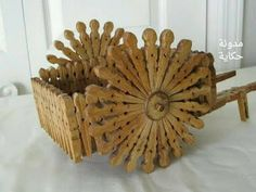 Risultato immagine per tramp art basketsClothespins are UsefulInstant Access To Woodworking Designs, DIY Patterns & Crafts Wooden Clothespin Crafts, Clothespin Cross, Wooden Clothespins, Wood Crafts, Popsicle Stick Crafts, Craft Stick Crafts, Diy And Crafts, Crafts For Kids, Arts And Crafts