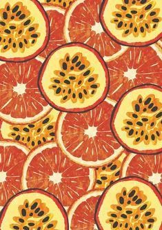 Ideas Fruit Design Illustration Colour For 2019 Fruit Illustration, Pattern Illustration, Fruit Pattern, Pattern Art, Orange Pattern, Surface Pattern Design, Cute Wallpapers, Wallpaper Backgrounds, Textures Patterns