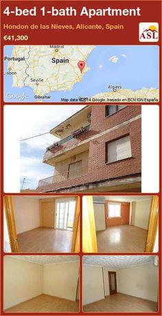 Apartment for Sale in Hondon de las Nieves, Alicante, Spain with 4 bedrooms, 1 bathroom - A Spanish Life Apartments For Sale, Portugal, Alicante Spain, Spanish, Bedrooms, Bathroom, House, Home Decor