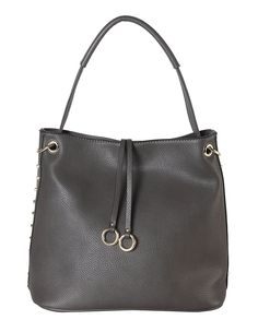 Diophy Gold-toned Studded Hobo Handbag (Grey), Women s, Size handle strap  shoulder strap Bag is 11 (leather) af011862a8