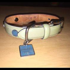Coach Patent Leather Dog Collar XS Light Blue GUC Coach Patent Leather Dog Collar XS (8.5-10.5) Light Blue. Lots of life left. NO trades!  I have 2 of these. Coach Accessories
