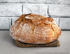 Prosty chleb pszenny na dro? Ciabatta, Rolls, Food And Drink, Bread, Cooking, Simple, Pasta, Breads, Kitchen