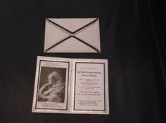 Antique Queen Victorian Memorium Remembrance Card Queen