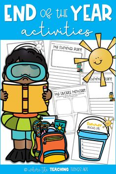 "This packet is a fun way to wrap up the school year! It includes a ""My Favorite Memories"" memory page, ""Summer Bucket List"" graphic organizer, and a ""My Summer Plans"" writing template. For grades Writing Template, List Template, Templates Printable Free, End Of Year Activities, Classroom Activities, Learning Activities, Pre K Schools, Teaching Kindergarten, Teaching Ideas"