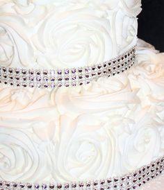 25th Wedding Anniversary Rosette cake — Anniversary