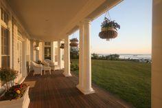 Dream homes require dreamy rambling porches.