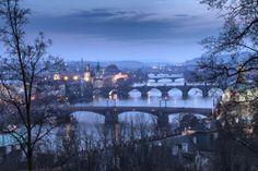 Bridges over the Vltava River, Prague, Czech Republic Prague Czech, Cityscapes, Czech Republic, Marina Bay Sands, Bridges, River, Building, Buildings, Bohemia
