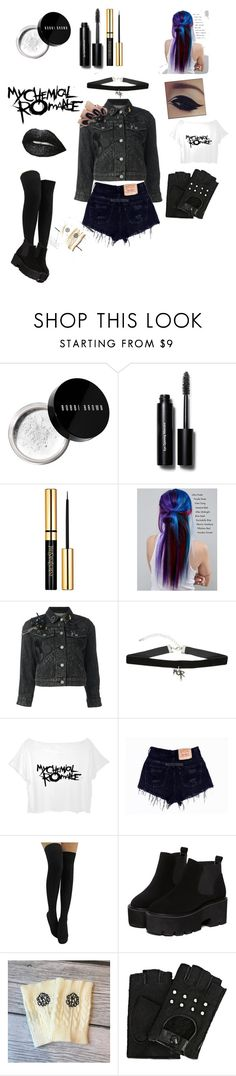 """""""I just want to be"""" by gothgirl87454 ❤ liked on Polyvore featuring Bobbi Brown Cosmetics, Manic Panic NYC, Marc Jacobs and Karl Lagerfeld"""