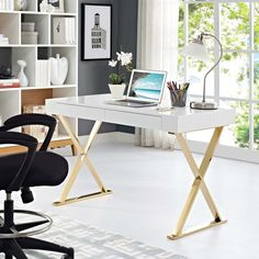 Home Office Furniture: Choosing The Right Computer Desk Contemporary Office Desk, Modern Office Desk, Home Office Space, Home Office Desks, Home Office Furniture, Office Decor, Office Ideas, Modern Furniture, Office Setup