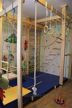 For families with kids, a spacious and safe kids' playroom is very important. Did you plan to design playroom for your kids, but not start? Maybe you can come and get some impressive ideas here. Home Gym Design, Kids Room Design, Playroom Design, Playroom Ideas, Colorful Playroom, Basement Bedrooms, Kids Bedroom, Cool Kids Rooms, Cool Bedrooms For Boys