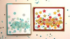 make it monday - cluster stamped sentiments - pine is here. clear embossed sentiment first