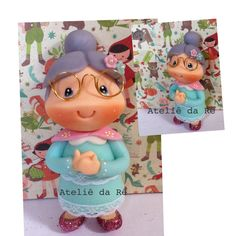 Vovô Biscuit, The Golden Years, Clay Baby, Fondant Toppers, Dyi Crafts, Fondant Figures, Pasta Flexible, Cold Porcelain, Clay Projects