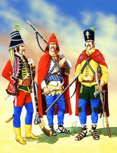 Austrian Warasin and Carlstadt Pandours 1742