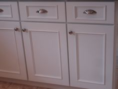 add moulding to cabinet front | Forever Decorating!: Evolution of The Kitchen