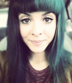 melanie-martinez-teal-black-hair-straight stop being so perfect i cant