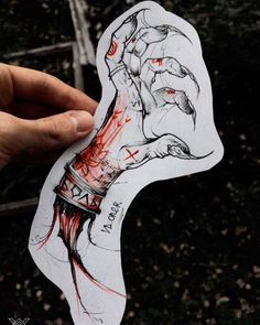 Drew just for fun. The free sketch. He began to experiment more with her style. How do you like the color red? :) #vdoner_sketch # Yekaterinburg #tattoo #sketch #hand #sketch #black #red #ink #graphic