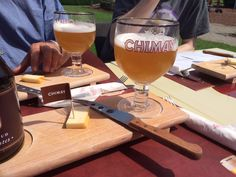 Apero in the sun - Chimay Dorée #trappist #chimay #outside #sunnyday #lunch www.chimay.com